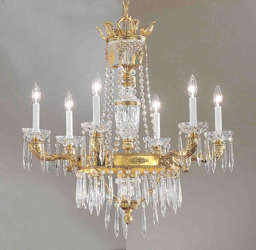 Classic Lighting 57316 AGB AI Duchess Crystal Chandelier in Aged Bronze (Imported from Spain)