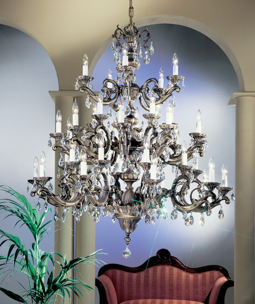 Classic Lighting 57240 MS S Princeton II Crystal Chandelier in Millennium Silver (Imported from Spain)
