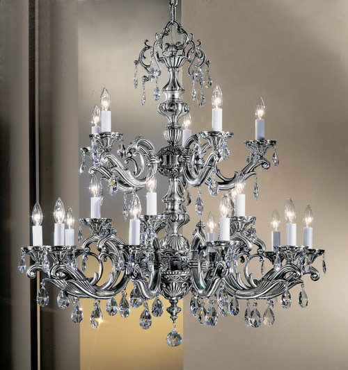 Classic Lighting 57220 MS S Princeton II Crystal Chandelier in Millennium Silver (Imported from Spain)