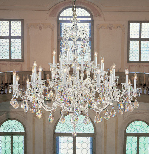 Classic Lighting 57130 SP CBK Via Firenze Crystal Chandelier in Silver (Imported from Spain)