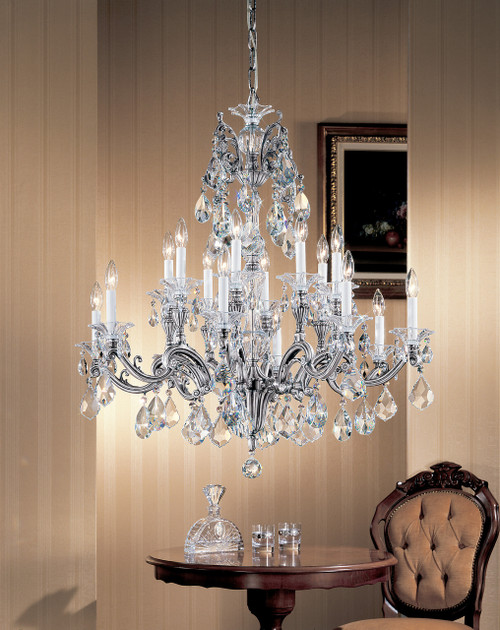 Classic Lighting 57116 RB CBK Via Firenze Crystal Chandelier in Roman Bronze (Imported from Spain)