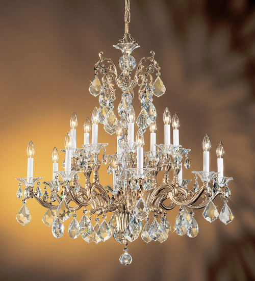 Classic Lighting 57116 BBK SC Via Firenze Crystal Chandelier in Bronze/Black Patina (Imported from Spain)