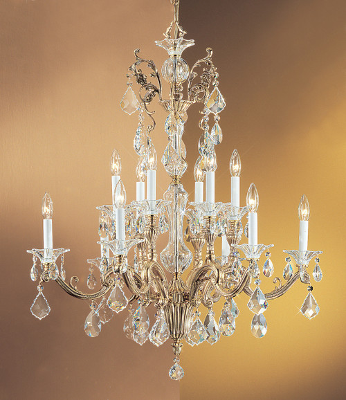 Classic Lighting 57112 BBK S Via Firenze Crystal Chandelier in Bronze/Black Patina (Imported from Spain)