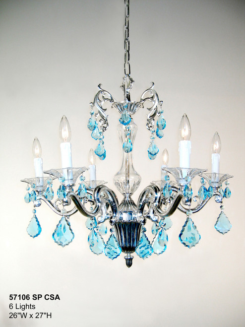 Classic Lighting 57106 SP IRA Via Firenze Crystal Chandelier in Silver (Imported from Spain)