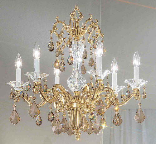 Classic Lighting 57106 BBK SGT Via Firenze Crystal Chandelier in Bronze/Black Patina (Imported from Spain)