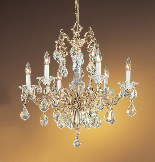 Classic Lighting 57106 BBK SC Via Firenze Crystal Chandelier in Bronze/Black Patina (Imported from Spain)