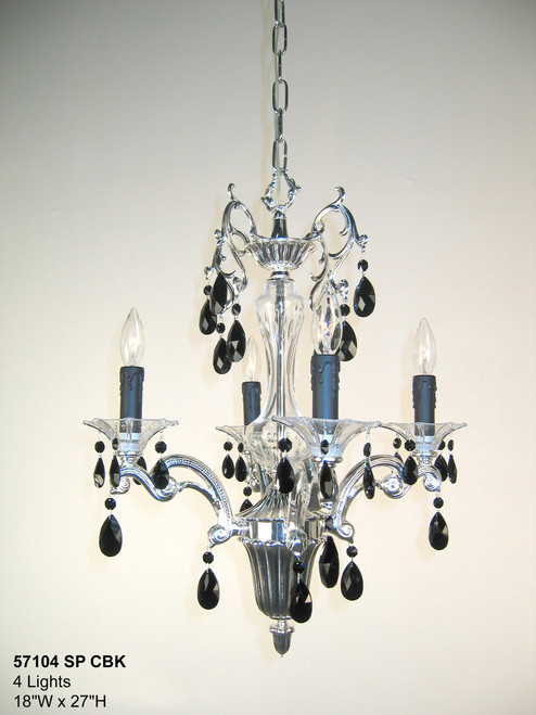 Classic Lighting 57104 SP CBK Via Firenze Crystal Mini Chandelier in Silver (Imported from Spain)