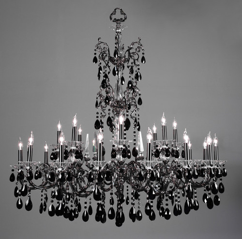 Classic Lighting 57065 EP CP Via Lombardi Crystal Chandelier in Ebony Pearl (Imported from Spain)