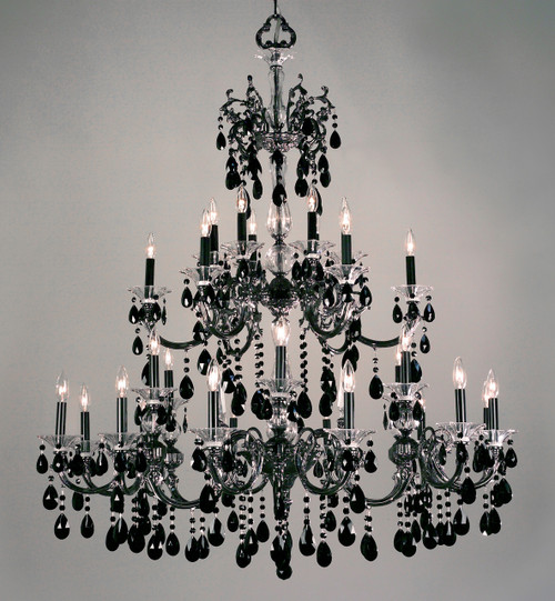 Classic Lighting 57060 CHP SGT Via Lombardi Crystal Chandelier in Champagne Pearl (Imported from Spain)