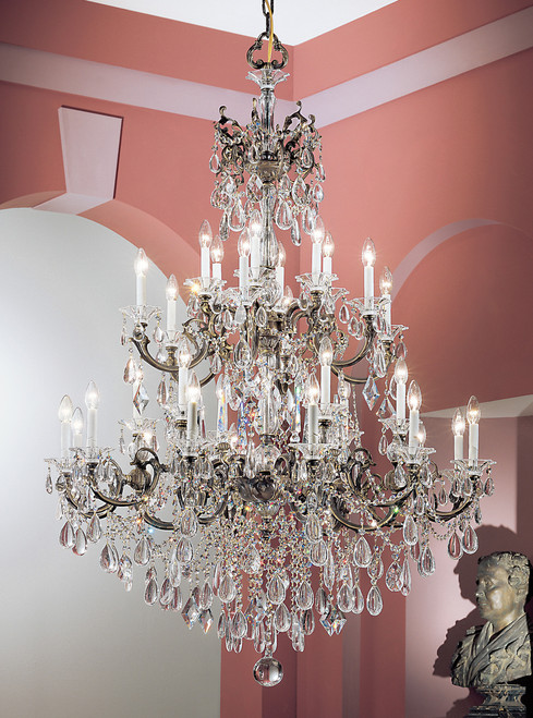 Classic Lighting 57030 RB CBK Via Venteo Crystal Chandelier in Roman Bronze (Imported from Spain)