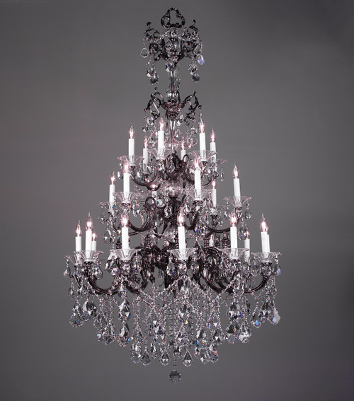 Classic Lighting 57024 MS SGT Via Venteo Crystal Chandelier in Millennium Silver (Imported from Spain)
