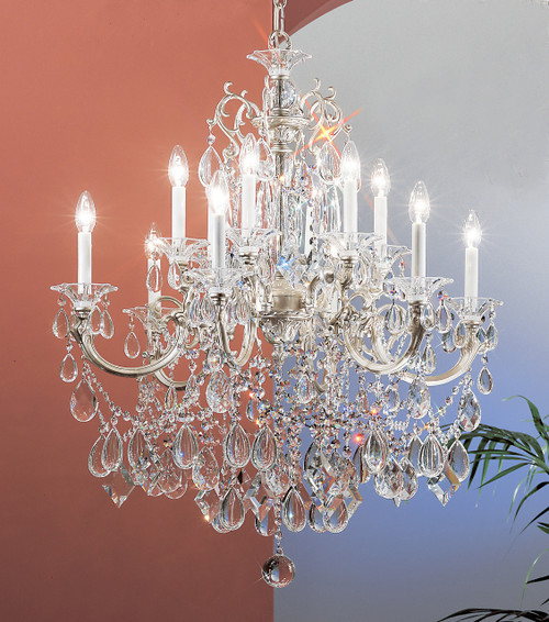 Classic Lighting 57024 CHP SJT Via Venteo Crystal Chandelier in Champagne Pearl (Imported from Spain)