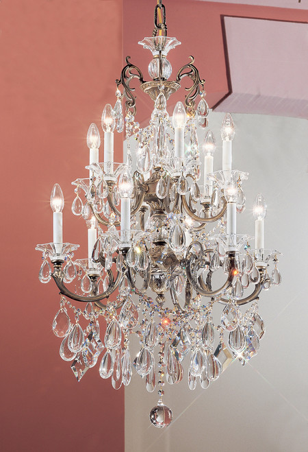 Classic Lighting 57012 RB SC Via Venteo Crystal Chandelier in Roman Bronze (Imported from Spain)