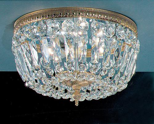 Classic Lighting 52312 RB SC Crystal Baskets Crystal Flushmount in Roman Bronze