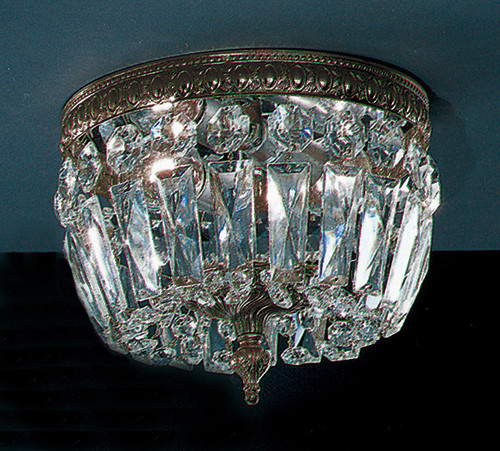 Classic Lighting 52210 MS CP Crystal Baskets Crystal Flushmount in Millennium Silver