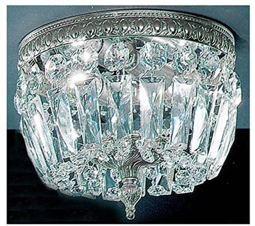 Classic Lighting 52208 MS I Crystal Baskets Crystal Flushmount in Millennium Silver