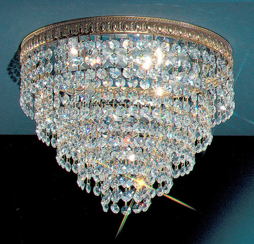Classic Lighting 51312 OWB CP Crystal Baskets Crystal Flushmount in Olde World Bronze