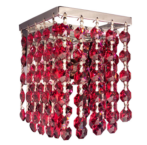 Classic Lighting 16102 SBO Bedazzle Crystal Wall Sconce in Chrome