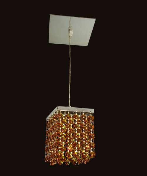 Classic Lighting 16101 STO Bedazzle Crystal Pendant in Chrome