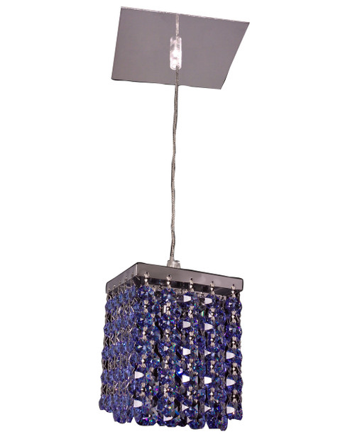 Classic Lighting 16101 SMS-S Bedazzle Crystal Pendant in Chrome
