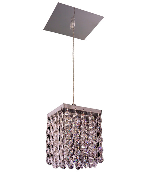 Classic Lighting 16101 SCSQ Bedazzle Crystal Pendant in Chrome