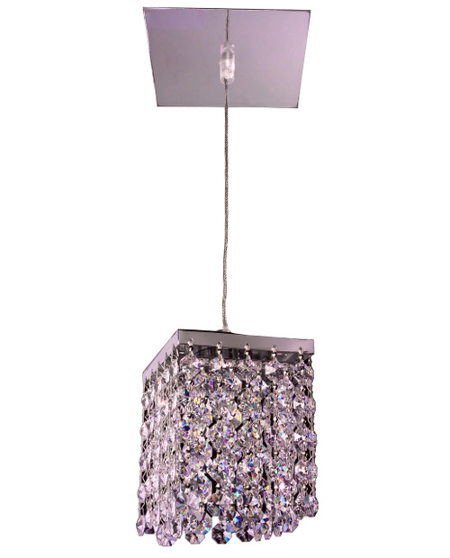 Classic Lighting 16101 S Bedazzle Crystal Pendant in Chrome