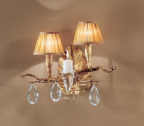 Classic Lighting 10022 NBZ Morning Dew Crystal Wall Sconce in Natural Bronze (Imported from Portugal)