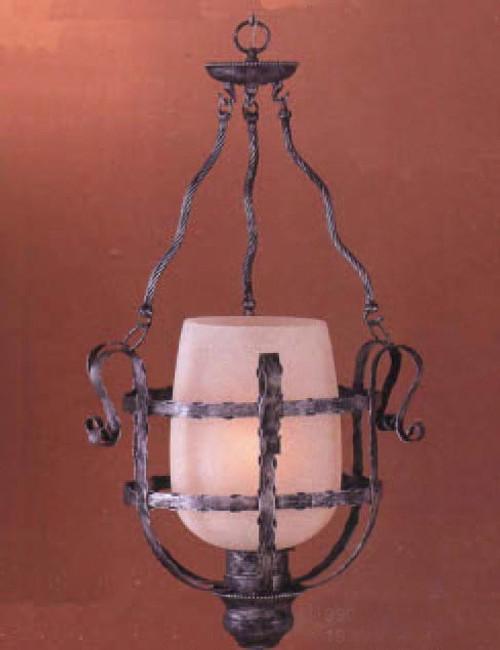 Classic Lighting 9901 AP Malaga Wrought Iron Pendant in Antique Pewter