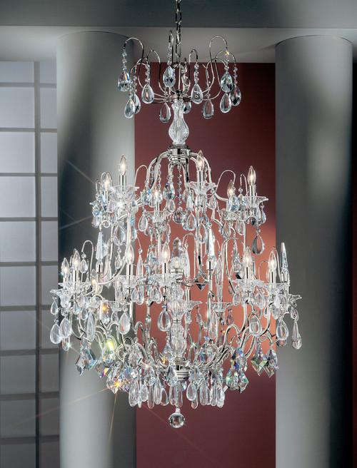 Classic Lighting 9069 CH ATZ Garden of Versailles Crystal Chandelier in Chrome