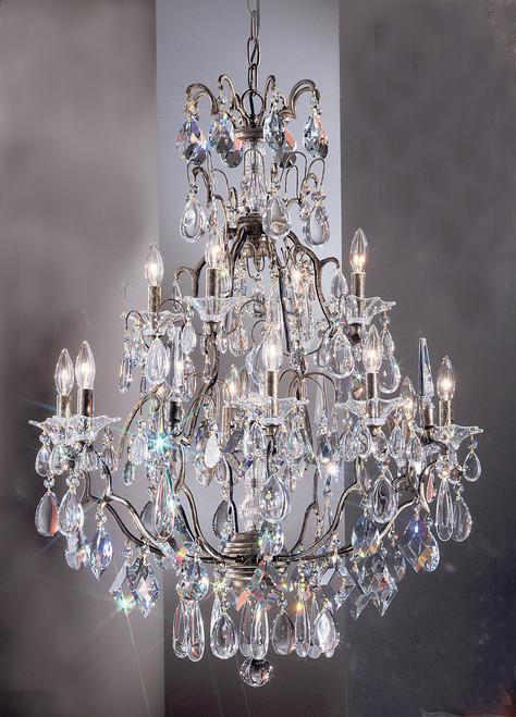Classic Lighting 9069 ABG ATZ Garden of Versailles Crystal Chandelier in Antique Bronze/Gold Patina