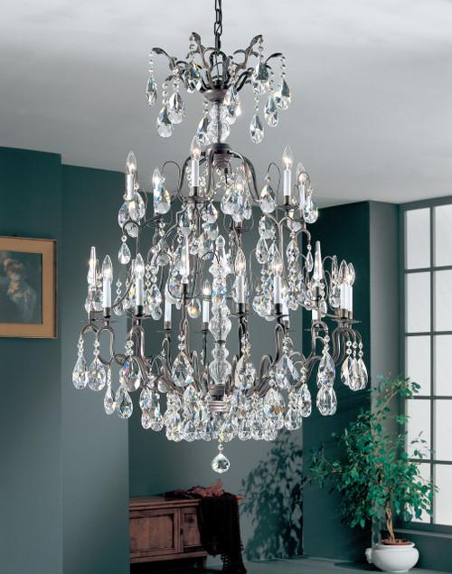 Classic Lighting 9019 AB SC Versailles Crystal Chandelier in Antique Bronze