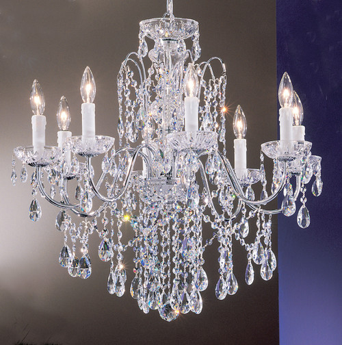 Classic Lighting 8398 CH S Daniele Crystal Chandelier in Chrome