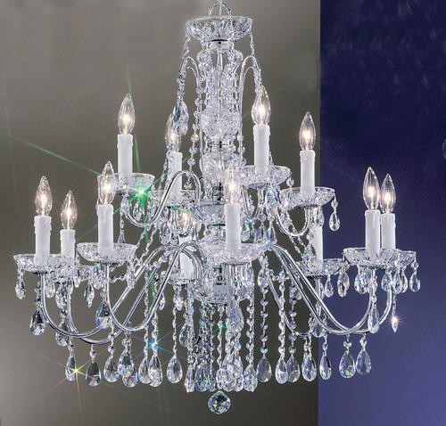 Classic Lighting 8389 EB S Daniele Crystal Chandelier in English Bronze