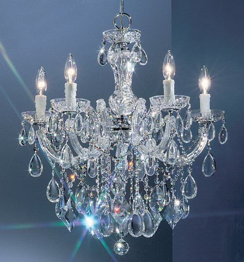 Classic Lighting 8355 CH C Rialto Contemporary Crystal Chandelier in Chrome
