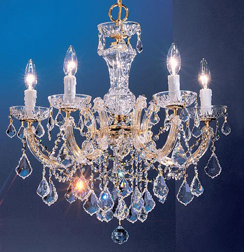 Classic Lighting 8345 GP S Rialto Traditional Crystal Chandelier in Gold