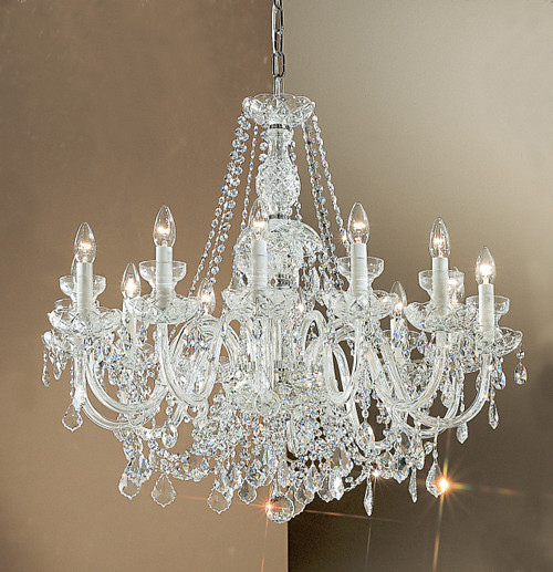 Classic Lighting 8274 CH C Bohemia Crystal/Glass Chandelier in Chrome (Imported from Italy)