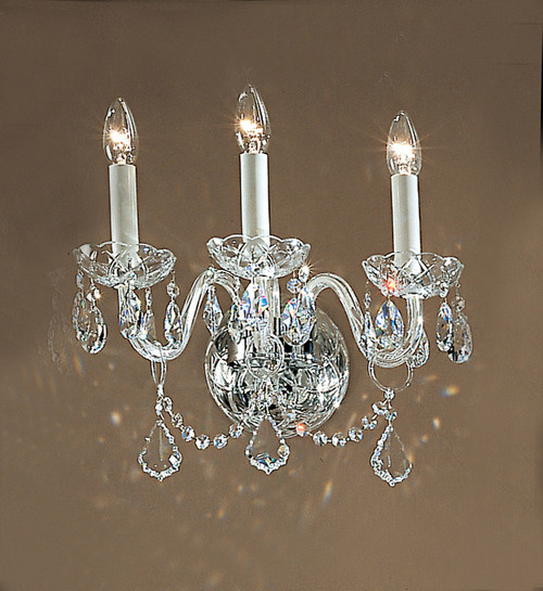 Classic Lighting 8269 G S Bohemia Crystal/Glass Wall Sconce in 24k Gold (Imported from Italy)