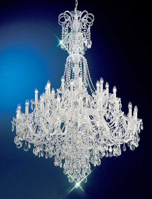 Classic Lighting 8266 G S Bohemia Crystal/Glass Chandelier in 24k Gold (Imported from Italy)
