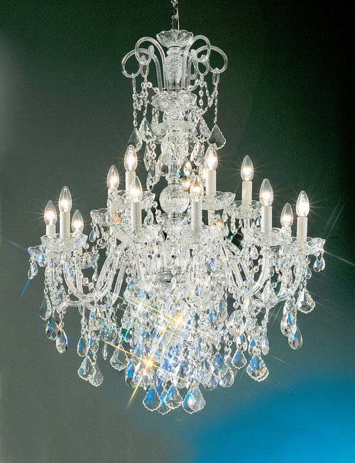 Classic Lighting 8262 G S Bohemia Crystal/Glass Chandelier in 24k Gold (Imported from Italy)