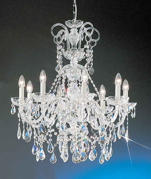 Classic Lighting 8261 G SC Bohemia Crystal/Glass Chandelier in 24k Gold (Imported from Italy)