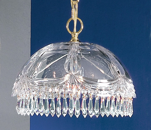Classic Lighting 8221 G CP Prague Crystal/Glass Pendant in 24k Gold (Imported from Spain)