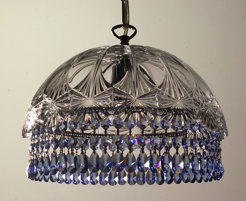 Classic Lighting 8221 CH SAP Prague Crystal/Glass Pendant in Chrome (Imported from Spain)