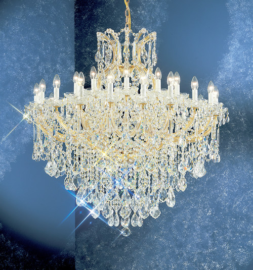 Classic Lighting 8180 OWG SC Maria Theresa Traditional Crystal Chandelier in Olde World Gold (Imported from Italy)