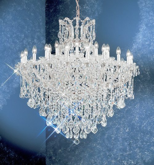 Classic Lighting 8180 CH S Maria Theresa Traditional Crystal Chandelier in Chrome (Imported from Italy)
