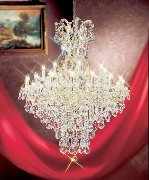 Classic Lighting 8179 OWG SC Maria Theresa Traditional Crystal Chandelier in Olde World Gold (Imported from Italy)