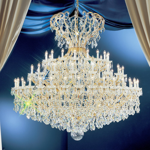 Classic Lighting 8169 OWG SC Maria Theresa Traditional Crystal Chandelier in Olde World Gold (Imported from Italy)