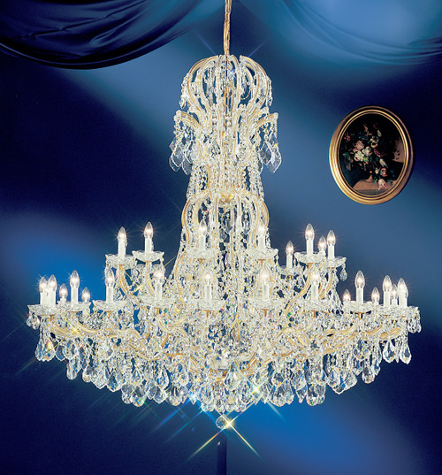 Classic Lighting 8166 OWG SC Maria Theresa Traditional Crystal Chandelier in Olde World Gold (Imported from Italy)