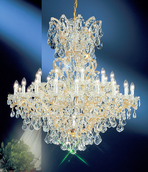 Classic Lighting 8163 OWG S Maria Theresa Traditional Crystal Chandelier in Olde World Gold (Imported from Italy)