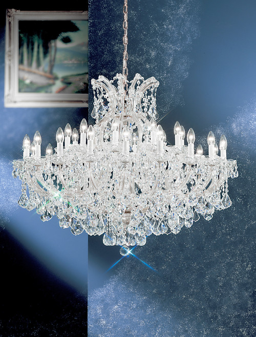Classic Lighting 8160 CH C Maria Theresa Traditional Crystal Chandelier in Chrome (Imported from Italy)