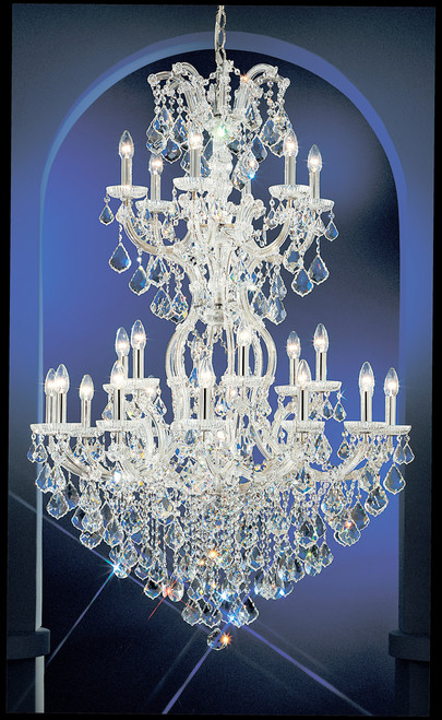 Classic Lighting 8131 OWG S Maria Theresa Traditional Crystal Chandelier in Olde World Gold (Imported from Italy)